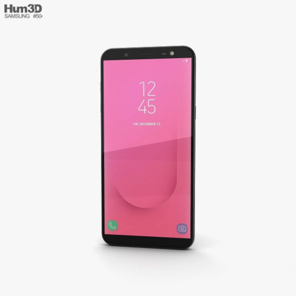 Samsung Galaxy J8 Black - 3DOcean Item for Sale
