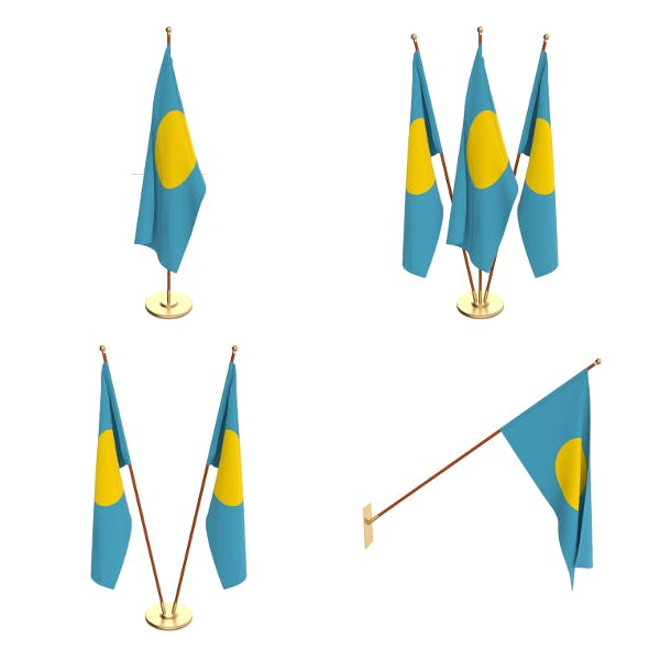 Palau Flag Pack - 3DOcean Item for Sale