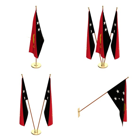 Papua New Guinea Flag Pack - 3DOcean Item for Sale