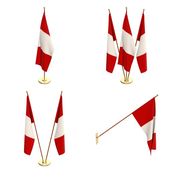 Peru Flag Pack - 3DOcean Item for Sale