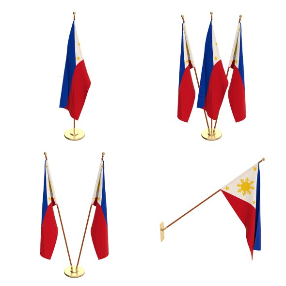Philippines Flag Pack - 3DOcean Item for Sale