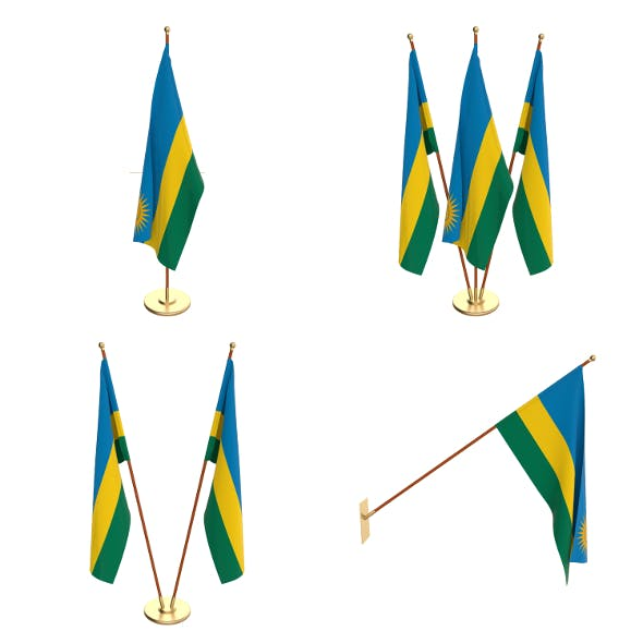 Rwanda Flag Pack - 3DOcean Item for Sale