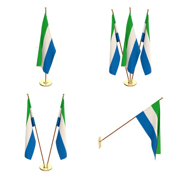 Sierra Leone Flag Pack - 3DOcean Item for Sale