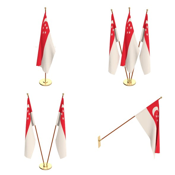 Singapore Flag Pack - 3DOcean Item for Sale