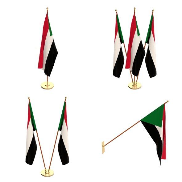 Sudan Flag Pack - 3DOcean Item for Sale