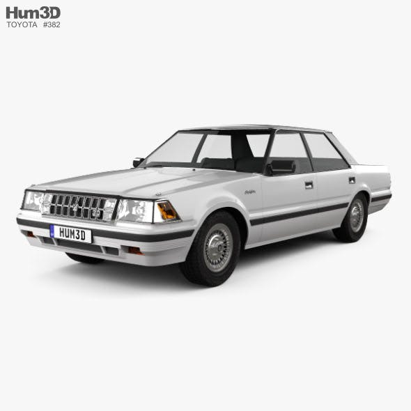 Toyota Crown Royal Saloon 1983 - 3DOcean Item for Sale