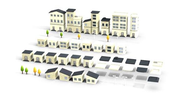 3D Modular Buildings Set - 3DOcean Item for Sale