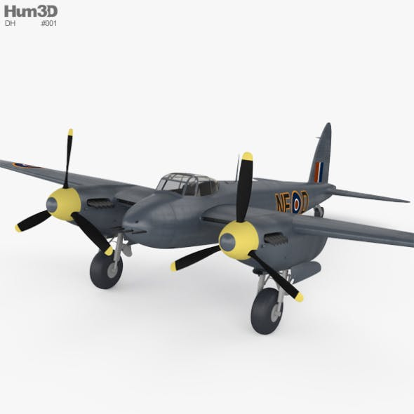 de Havilland DH.98 Mosquito FB MK VI - 3DOcean Item for Sale
