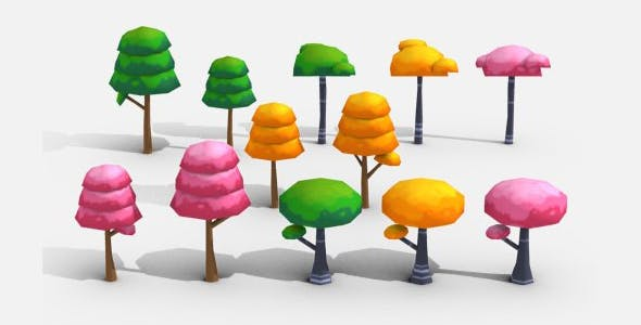 Cartoon Trees - 3DOcean Item for Sale