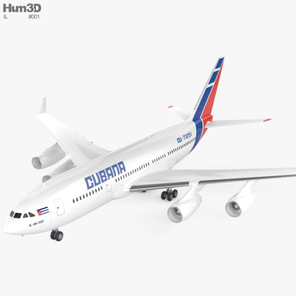Ilyushin Il-96 - 3DOcean Item for Sale