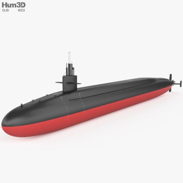 Ohio-class submarine - 3DOcean Item for Sale