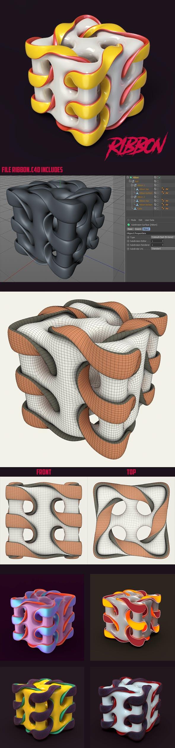 ribbon - 3DOcean Item for Sale