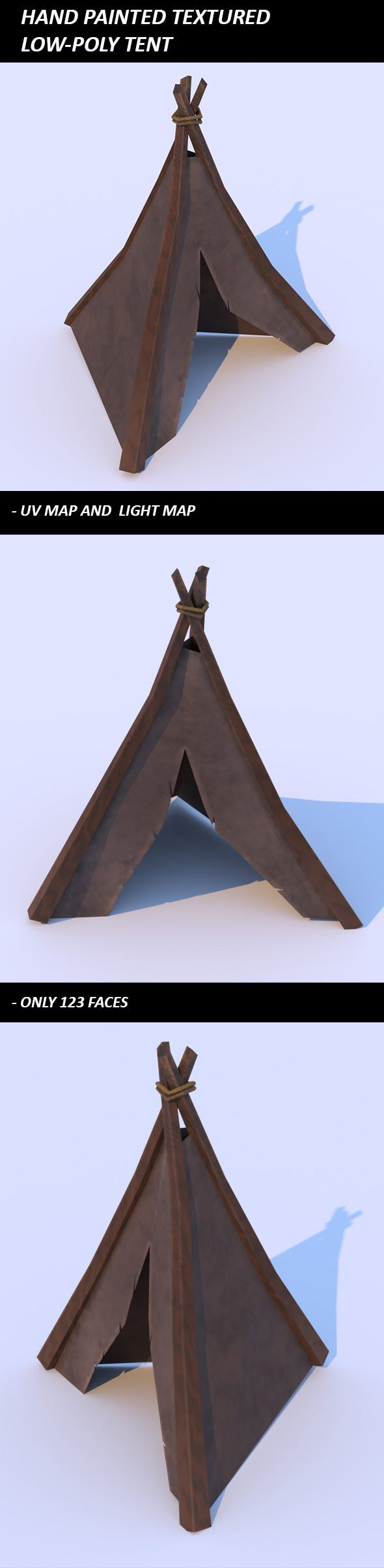 Low-Poly Tent - 3DOcean Item for Sale