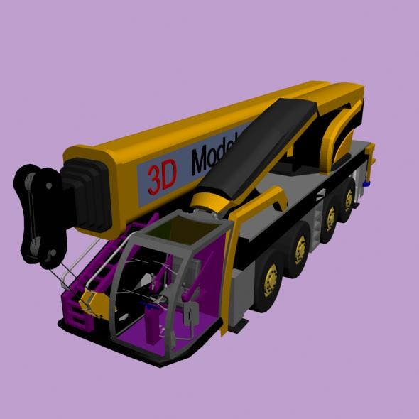 Heavy crane simulator - 3DOcean Item for Sale