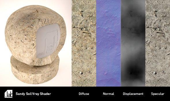 Sandy Soil V-Ray Shader - 3DOcean Item for Sale