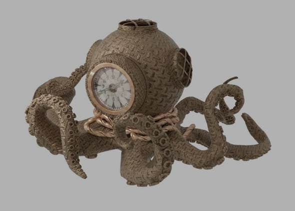 Steampunk octopus clock - 3DOcean Item for Sale