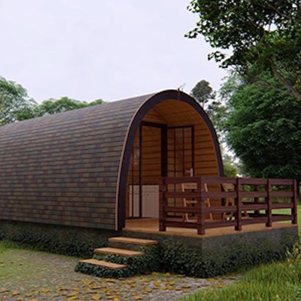 Tiny Camping Cabin