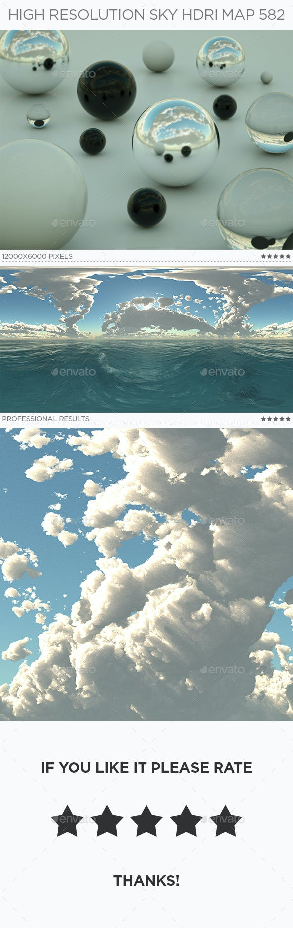 High Resolution Sky HDRi Map 582 - 3DOcean Item for Sale