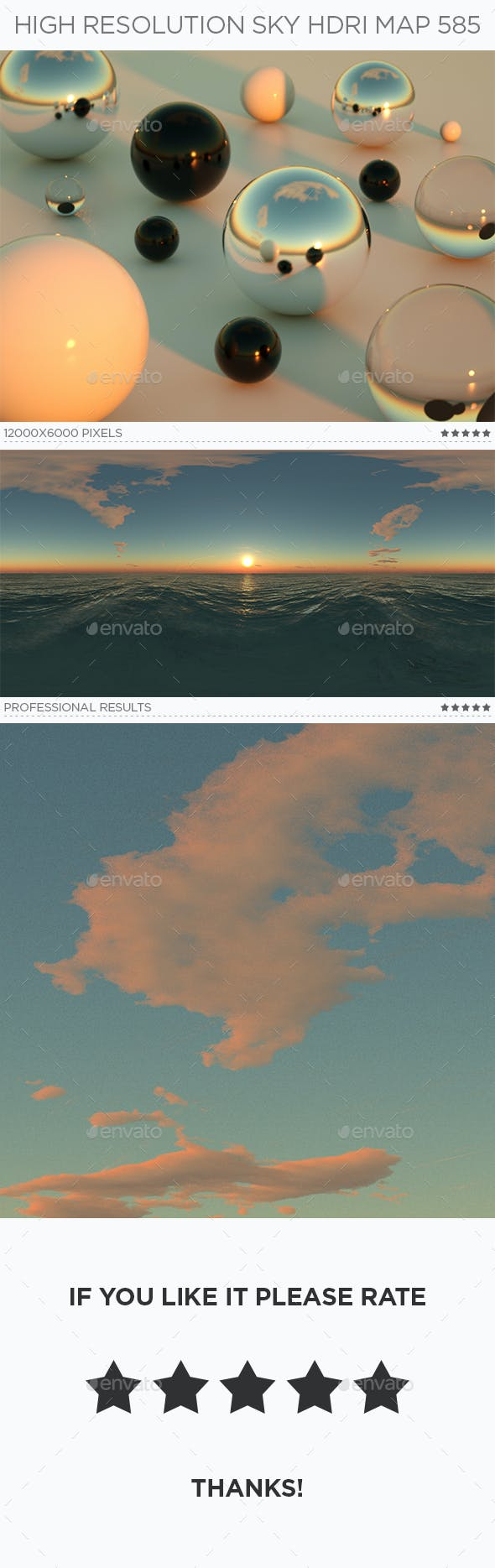 High Resolution Sky HDRi Map 585 - 3DOcean Item for Sale