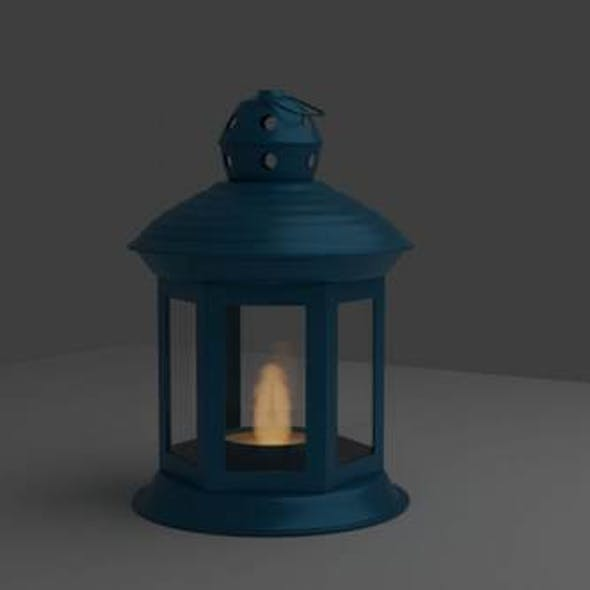Lamp with a candle