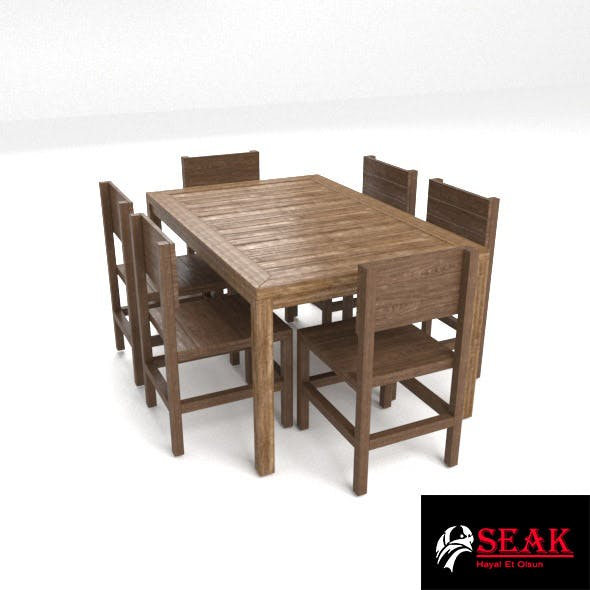 Realistic Garden Table - 3DOcean Item for Sale