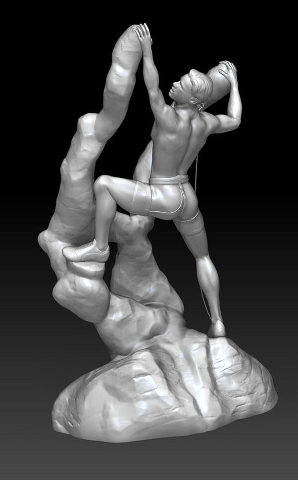 Climber fantasy for 3D print - 3DOcean Item for Sale