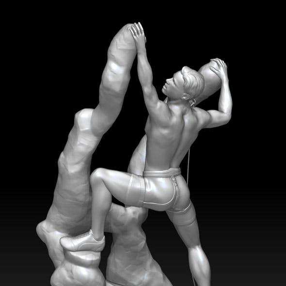 Climber fantasy for 3D print