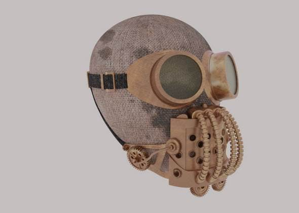Steampunk mask - 3DOcean Item for Sale