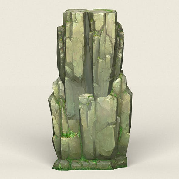 Game Ready Stone Cliff 03 - 3DOcean Item for Sale