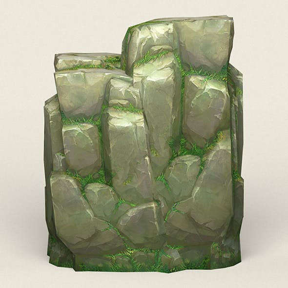 Game Ready Stone Cliff 04 - 3DOcean Item for Sale