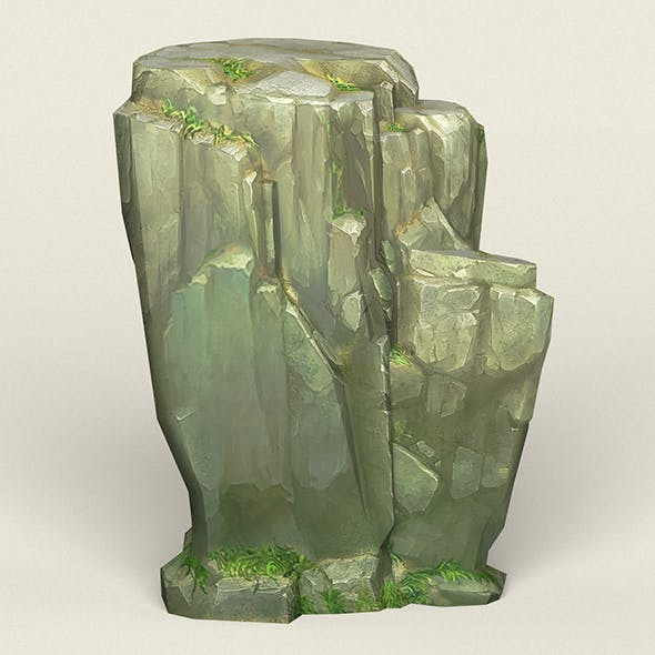 Game Ready Stone Cliff 05 - 3DOcean Item for Sale
