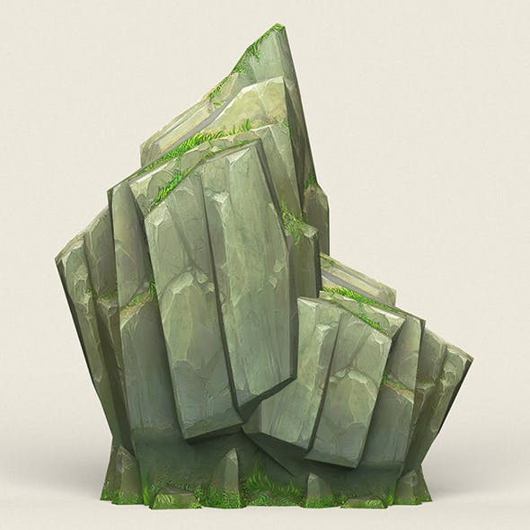 Game Ready Stone Cliff 08 - 3DOcean Item for Sale