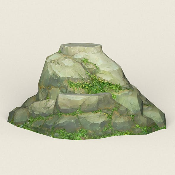 Game Ready Stone Cliff 09 - 3DOcean Item for Sale
