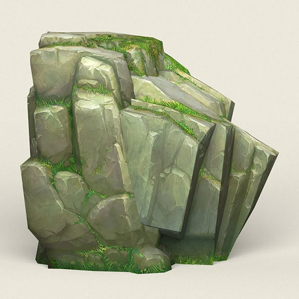 Game Ready Stone Cliff 11 - 3DOcean Item for Sale