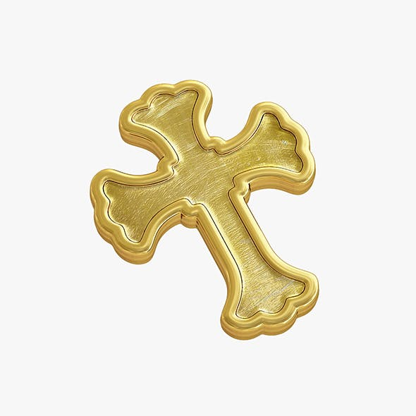 Golden_cross - 3DOcean Item for Sale