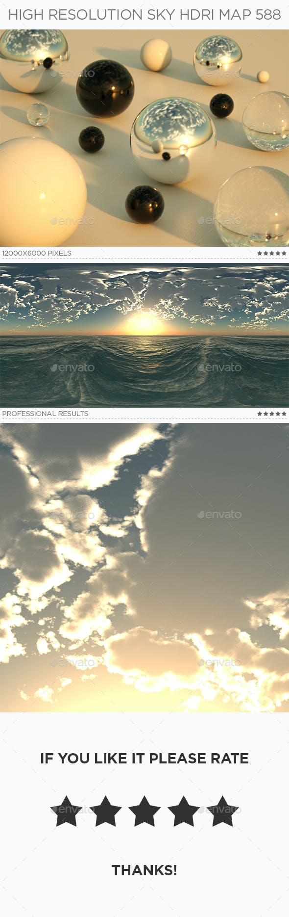 High Resolution Sky HDRi Map 588 - 3DOcean Item for Sale
