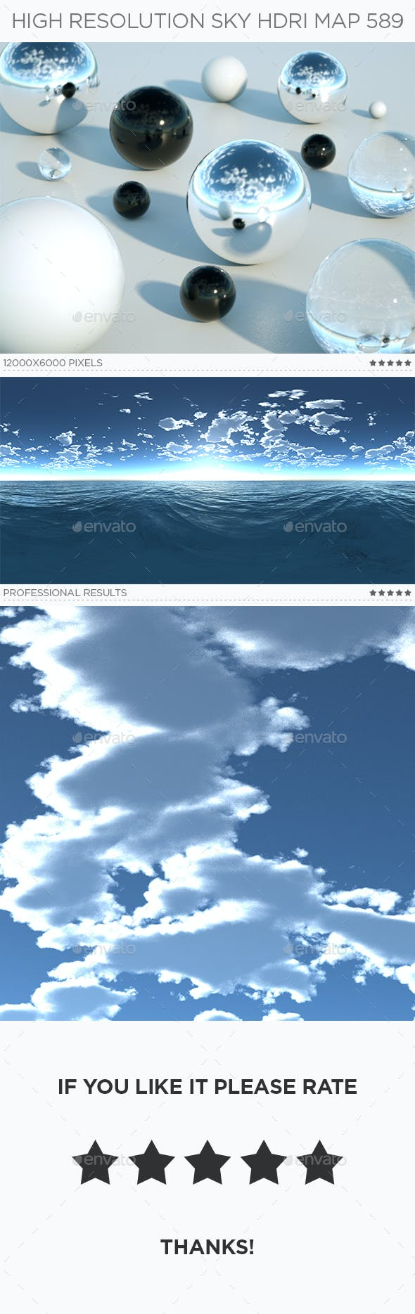 High Resolution Sky HDRi Map 589 - 3DOcean Item for Sale