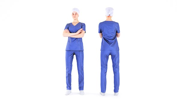 Surgical nurse 06 - 3DOcean Item for Sale