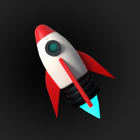 Low Poly Rocket - 3DOcean Item for Sale