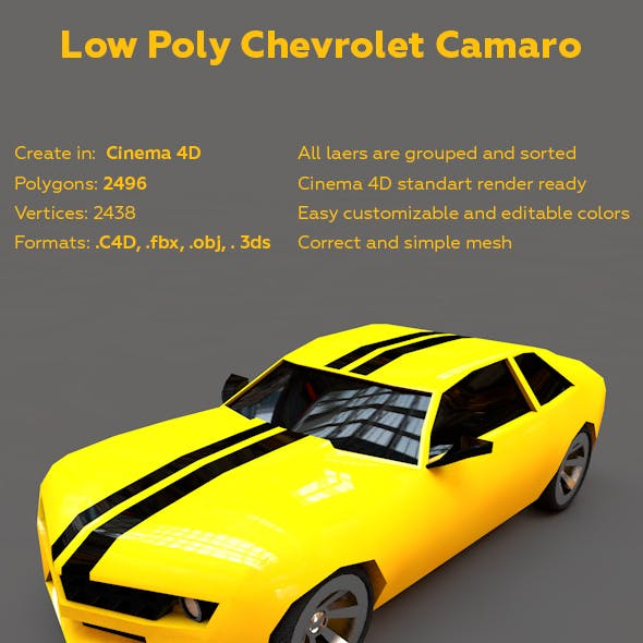 Chevrolet Camaro Low Poly