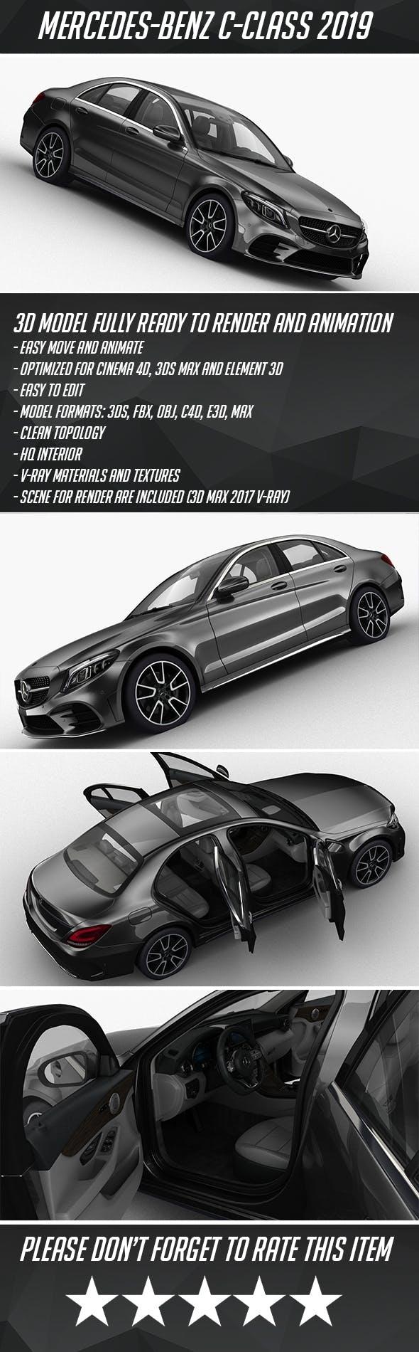 Mercedes-Benz C-Class 2019 - 3DOcean Item for Sale