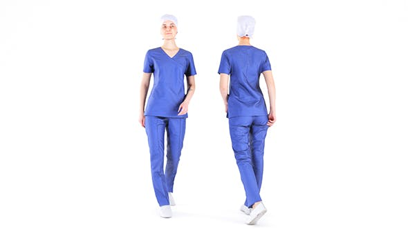 Surgical nurse 07 - 3DOcean Item for Sale