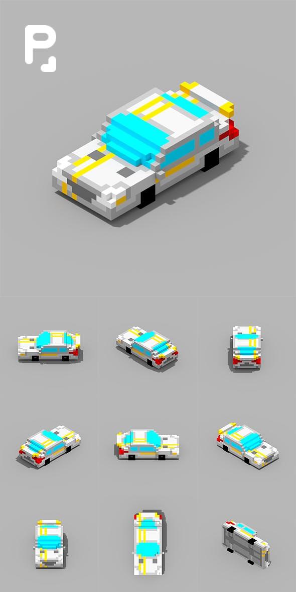 Voxel Car MersBi - 3DOcean Item for Sale