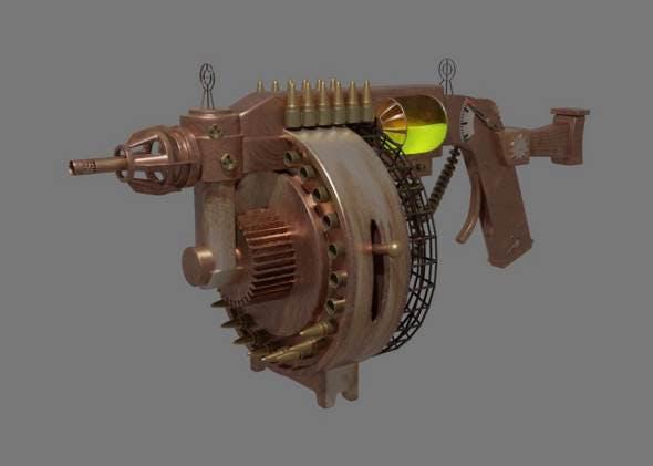 Steampunk gun - 3DOcean Item for Sale