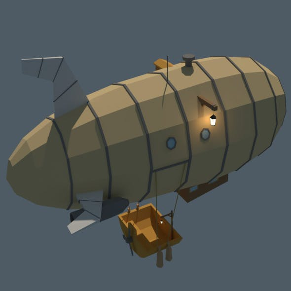 Low Poly Zeppelin