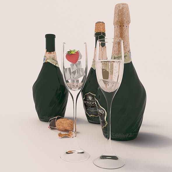 "Champagne ""Mondoro"" - 3DOcean Item for Sale"