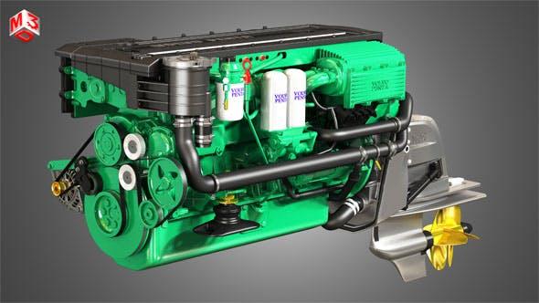 Volvo Penta Engine D6-330 - 3d model - 3DOcean Item for Sale