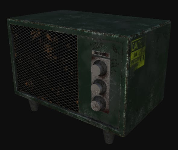 old receiver - 3DOcean Item for Sale