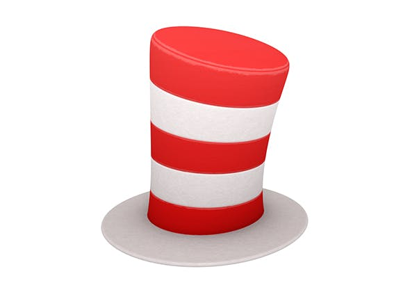 Striped Top Hat - 3DOcean Item for Sale