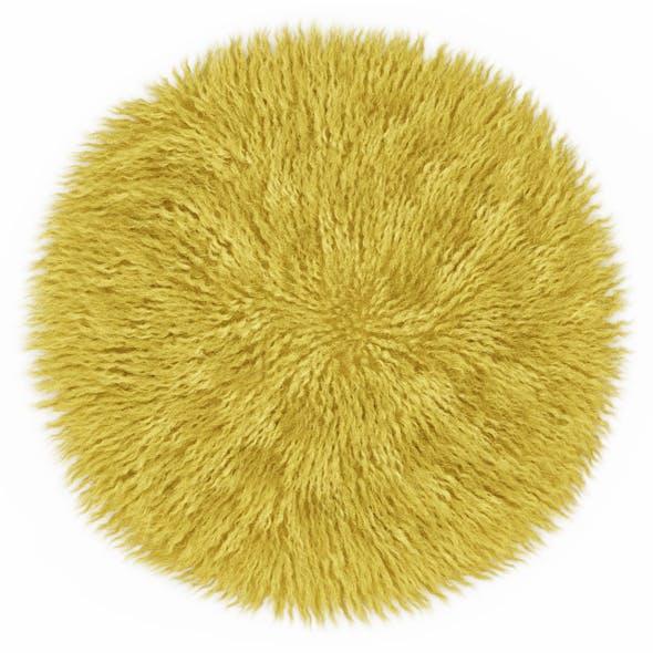 Round yellow carpet fur - 3DOcean Item for Sale